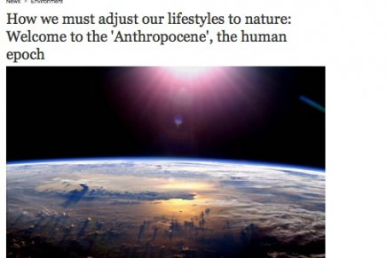 The Independent: Nature in the Anthropocene