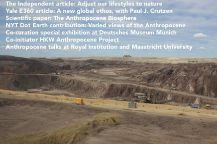A short summary of recentAnthropocene activities